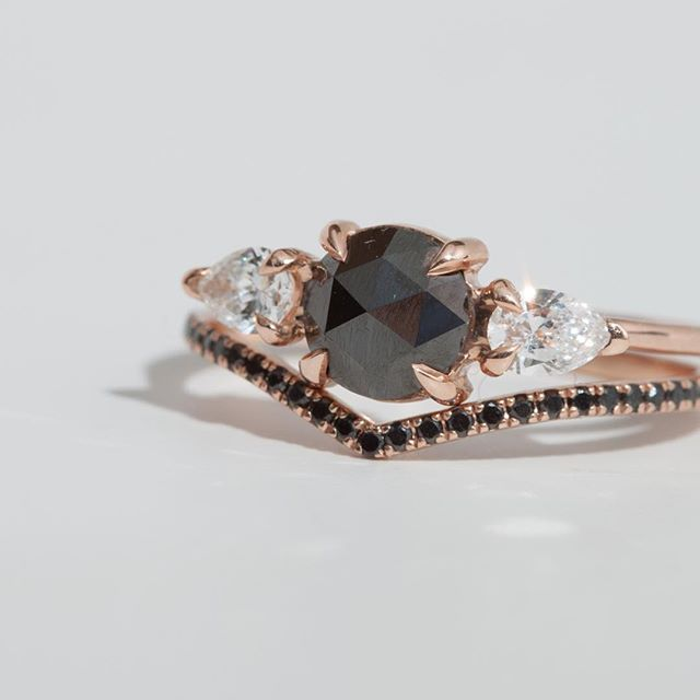 diamonds black as night mathilde and the curved fairy light only at catbird fairy lightsblack diamondsmathildeengagement ringsfairiesdream wedding - Engagement And Wedding Rings