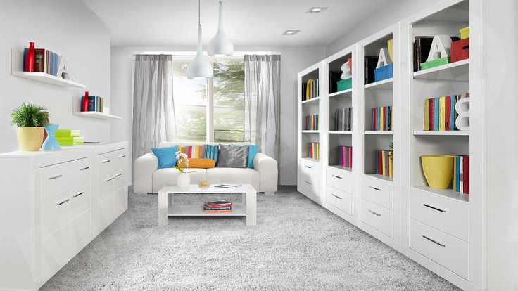 White Furniture || Białe meble || SNOW I ||  Tylko tutaj http://www.mirjan24.pl/mebloscianki/3909-meble-mlodziezowe-snow-i-5900101902981.html?search_query=snow&results=32