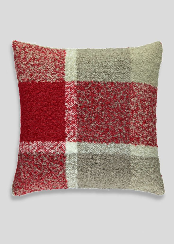 Boucle Check Textured Cushion (50cm x 50cm) Matalan