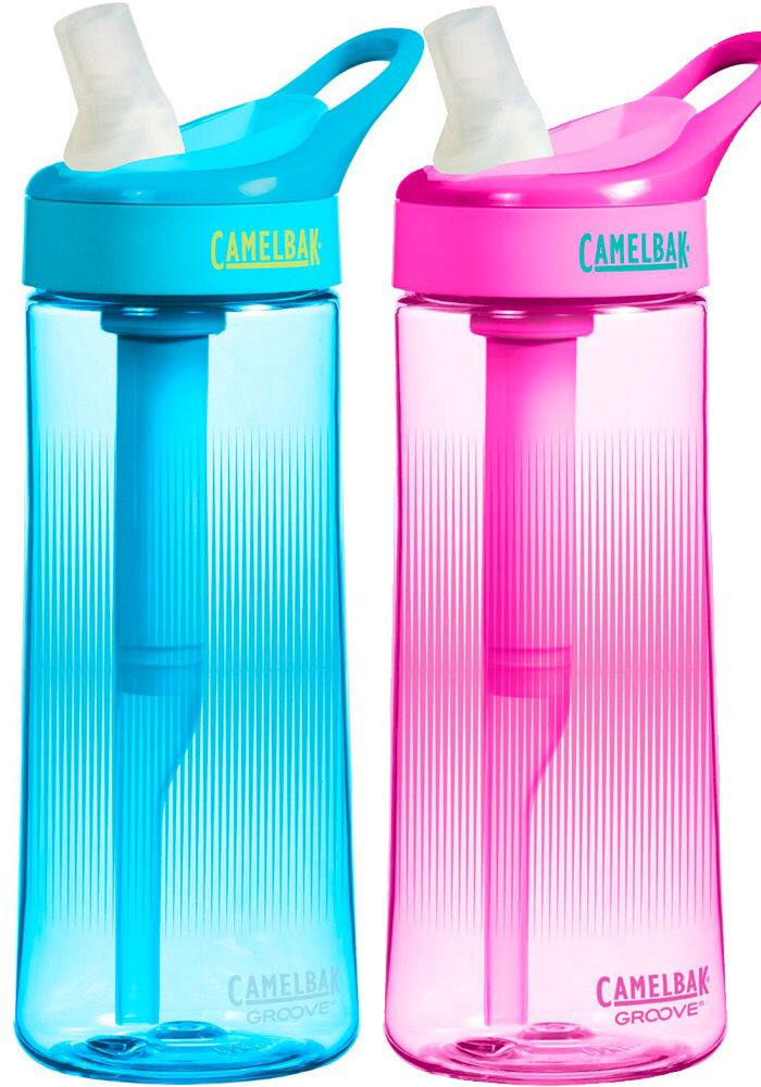 Camel Back Groove water bottle with filter.  Great for travel.