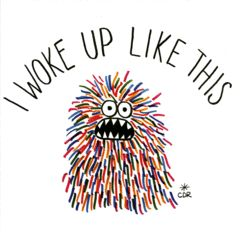 Funny greeting card - I woke up like this - U Studio | Comedy Card Company