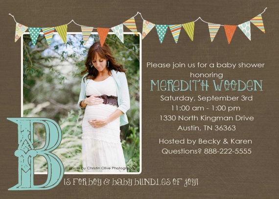 Love this baby shower invitation