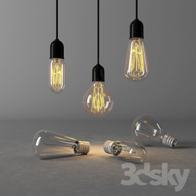 3d Models Ceiling Light Edison Lamp Edison Lamp Edison Light Bulbs Pendant Light