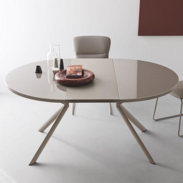 Table ronde extensible en verre - Giove