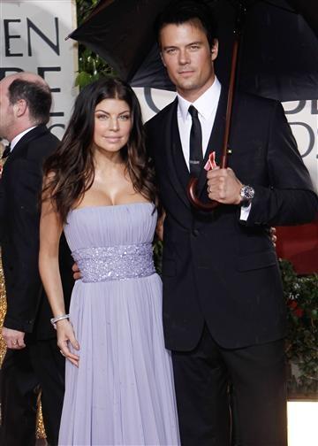 Fergie and Josh Duhamel, Red Carpet Golden Globes 2010