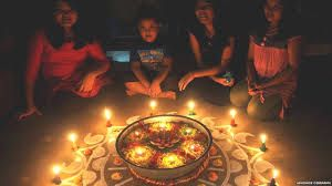 Children celebrating with candles