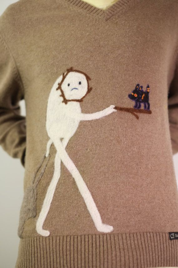 Darling Snow Gollem and Fire Wolf sweater