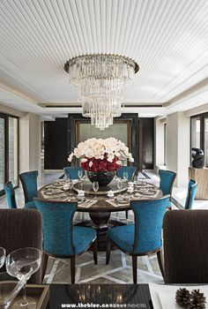 Modern Luxury Dining Room 552 best glamorous dining rooms images on pinterest | dining room