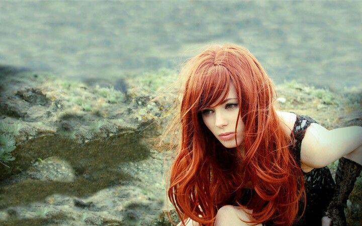 -Red hair..
