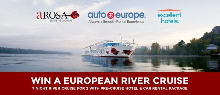 Enter to Win a 7 Night European River Cruise from Auto Europe! Picture yourself enjoying a 7-night European River Cruise down the Rhine, Danube, Rhone or Saone Rivers in Europe. Enter to Win Now (it's FREE)!