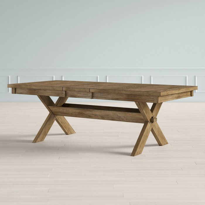 Poe Cross Buck Extendable Dining Table Extendable Dining Table