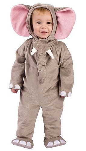 Toddler Elephant Costume  Aww! SO cute, and I can just hear Aadens elephant noise the whole time lol.
