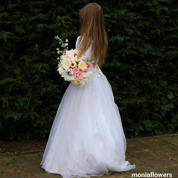 Bride Bouquet Rustic high quality Crepe Paper Flowers New