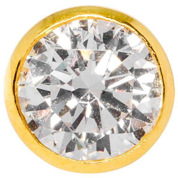 1 Carat Bezel Set Saudi Diamond Earrings in Gold