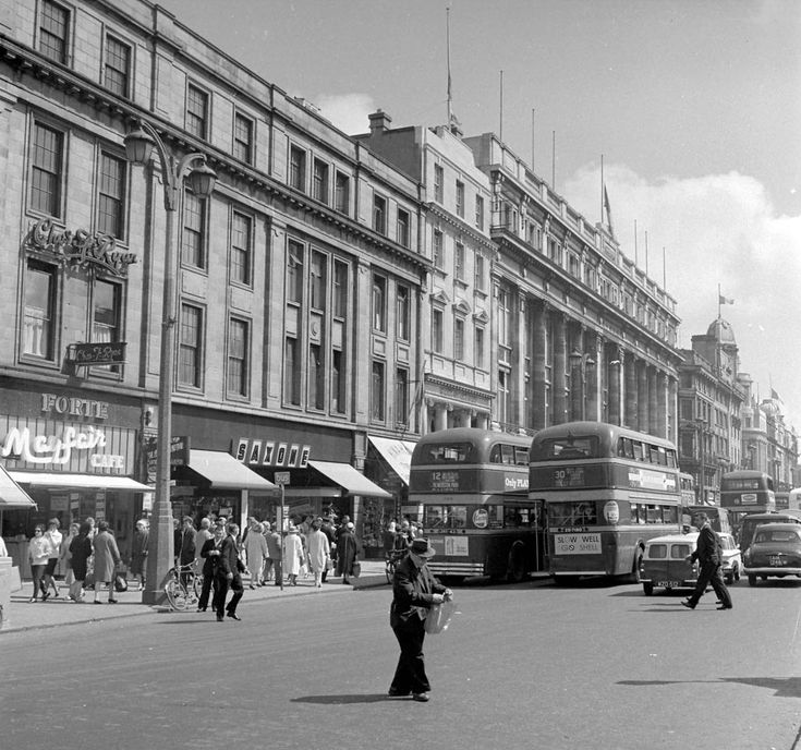 Forte Mayfair Cafe and Saxone shoe shop, O'Connell Street, 1963