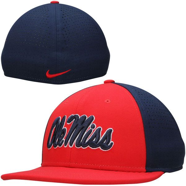 Ole Miss Rebels Nike Players True Vapor Swoosh Dri-FIT Performance Hat - Red/Navy - $26.99