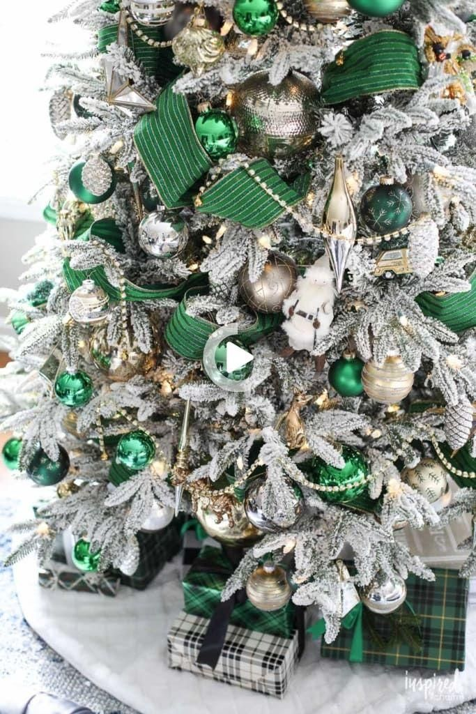 Christmas Tree Recolection 2021 Wedding Dresses Gowns Bhldn In 2021 Green Christmas Decorations Green Christmas Tree Decorations Flocked Christmas Trees
