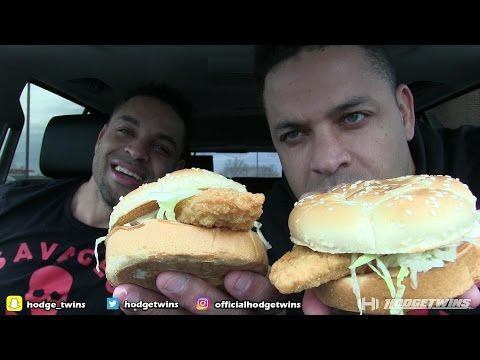 Eating Arby's Fish Sandwich @hodgetwins