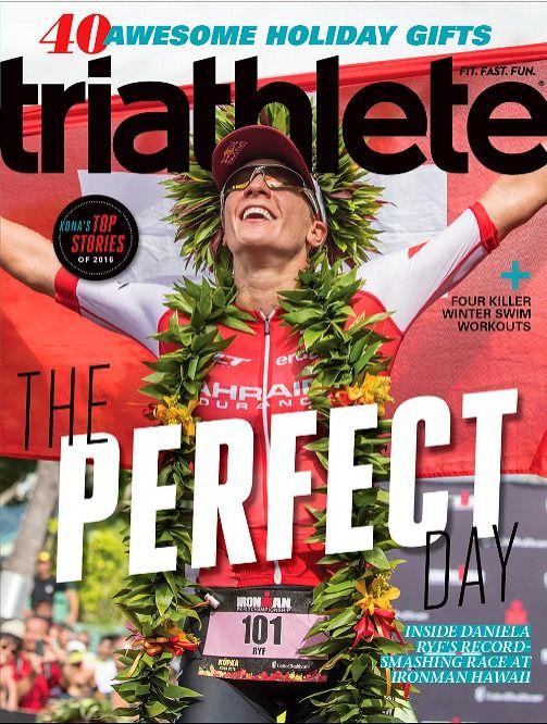 Triathlete Magazine December 2016 DANIELA RYF, Ironman Hawaii, Henri Schoeman