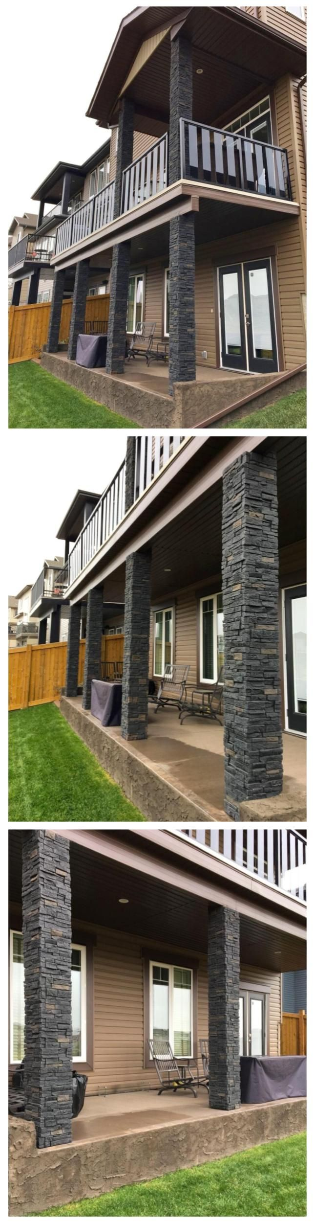 Quality Stone Stacked Stone (Black Blend) [Black, Brown, Grey, Gray, Dark, Skirting, Garage, Siding, Chimney, Store, House, Building, Versatile, Rustic, Traditional, Contemporary, Modern, Detail, Character, Renovation, Remodel, Texture, Decorative, Timeless, Panelled stone alternative, Tongue & Groove, Staggered Edges, Easy Install, DIY, Maintenance Free, High Density Polyurethane, Built Green, Realistic, Corners, R-Value, Durable, Light-weight] #everythingexteriorstore