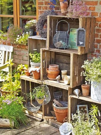 Holzkisten, Garten
