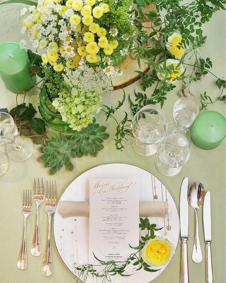 ナチュラルがテーマの「ゲストテーブル装花」参考画像まとめ | marry[マリー]