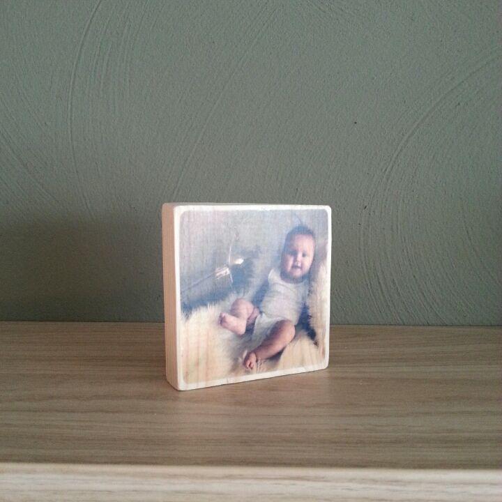 mooie foto op hout gemaakt