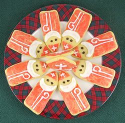 Painted St Nicholas Cookies--use egg yolk paint before baking to make special cookies! Quicker and easier than icing the whole cookie.