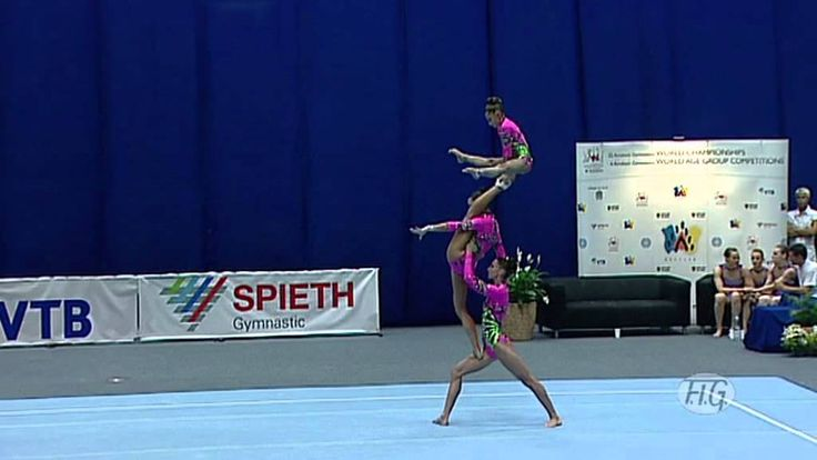 Acrobatic Gymnastics World Championships 2010 - Russia Women's Group 1st...   This is so awesome!