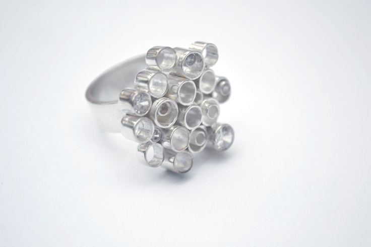 Zirconia ring! One of my soldering masterpieces...