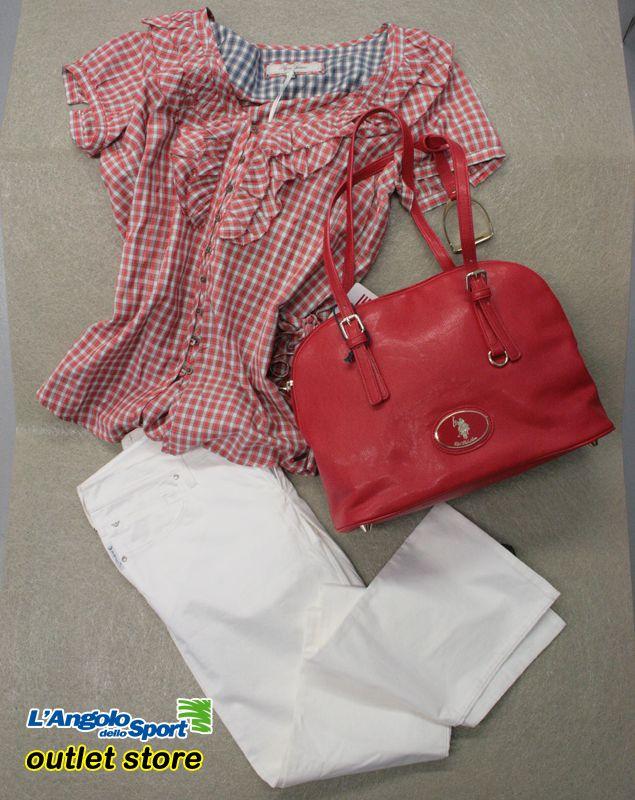 Affari d'oro! Camicetta #PepeJeans -60% Borsa U.S.Polo -30% Pantalone #ArmaniJeans -60% #AngoloOutlet by Roberta B.