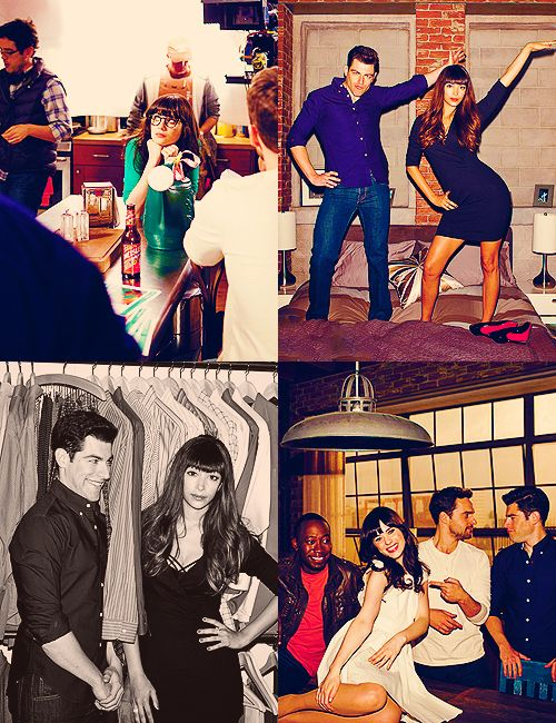 SCHMIDT AND CECE's POSE!!!!!!! I'm dying. New Girl- one of my favorite new shows.