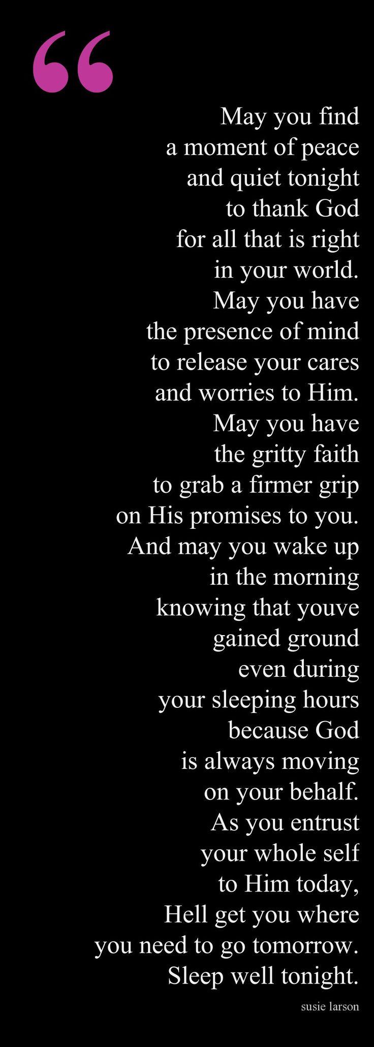 An Evening Prayer/Blessing Follow us at http://gplus.to/iBibleverses