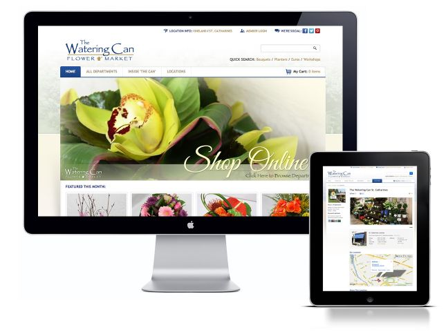 Extreme Technology built a custom website design for @The Watering Can Flower Market. The Watering Can is the best florist in Niagara! Bouquets, planters, wedding flowers and more - they are above the rest!  This site includes an online ordering system and a custom content management system