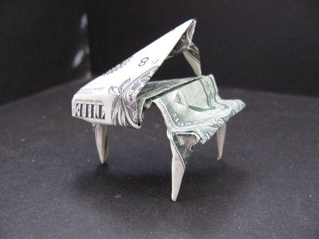 Money Origami Piano