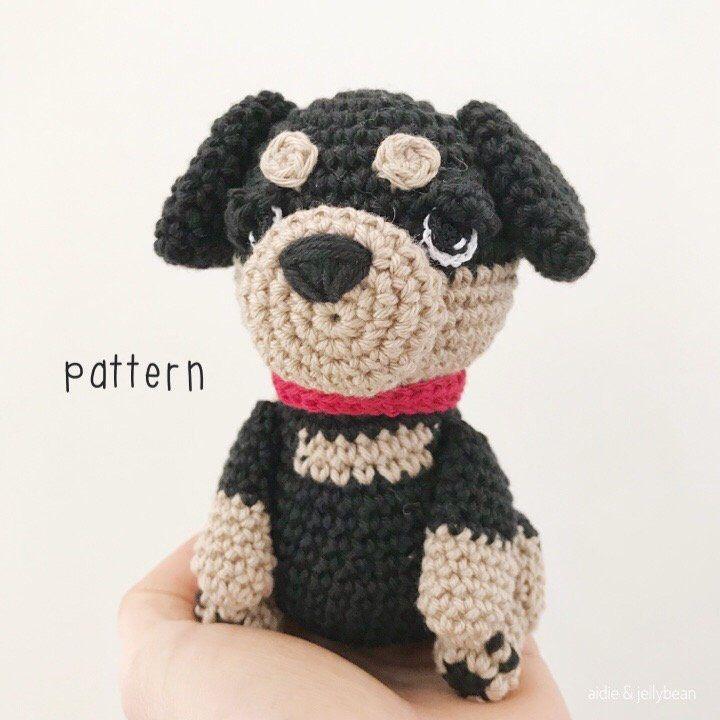 Amigurumi Pattern Tutorial English Amigurumi Rottweiler Dog