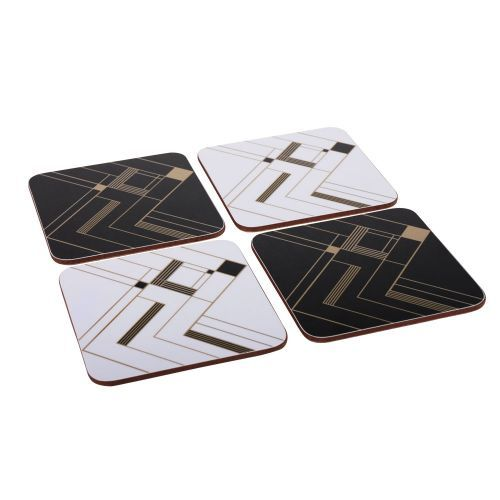 Art Deco Coasters - Set of 4 from Custom works. Buy from the online gift shop at English Heritage.