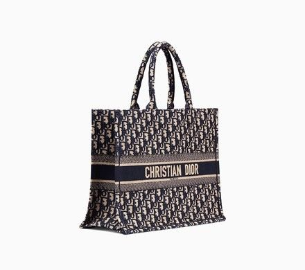 2f24e68257b Dior Book Tote bag in embroidered Dior Oblique canvas - Dior Chanel