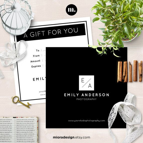 Photography Gift Certificate Template for by MioraDesign on Etsy