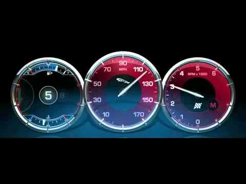 2011 Jaguar XJ Virtual Instrument Display