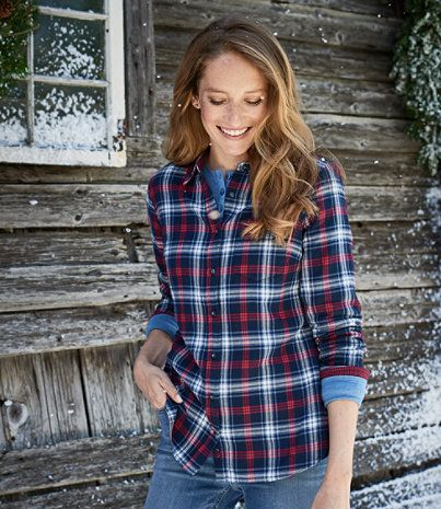 Doublecloth Flannel Tunic, Plaid
