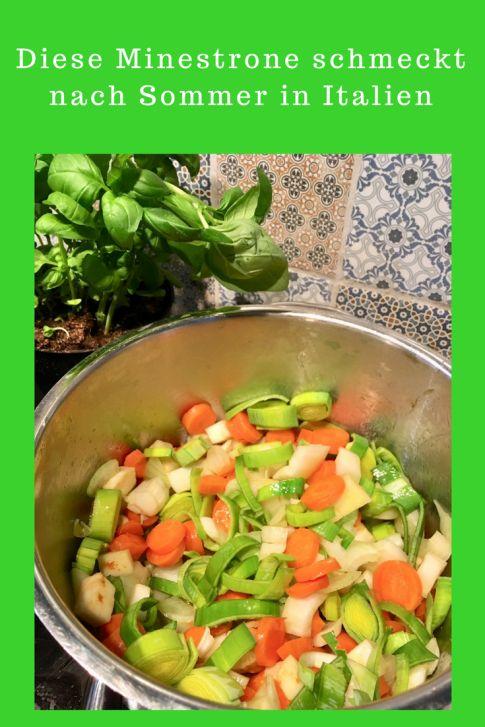 Italienische Gemüsesuppe: Diese Minestrone schmeckt auch Kindern, ein Klassiker der italienische Küche, schnell zu kochen, einfaches Rezept - Sommerrezept genauso wie Winterrezept, leckerer Gemüseeintopf