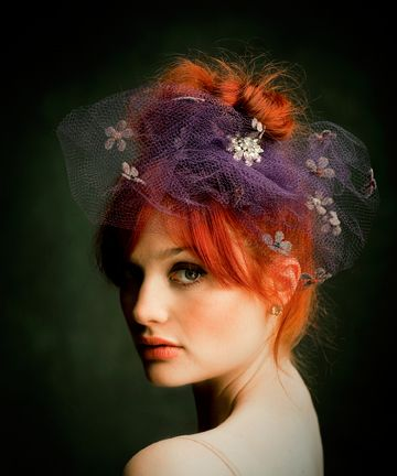 ban.do millinery netting lovePurple Hair, Hair Piece, Wedding Hair, Hair Colors, Red Hair, Alison Sudol, Beautiful, Hair Accessories, Redhair