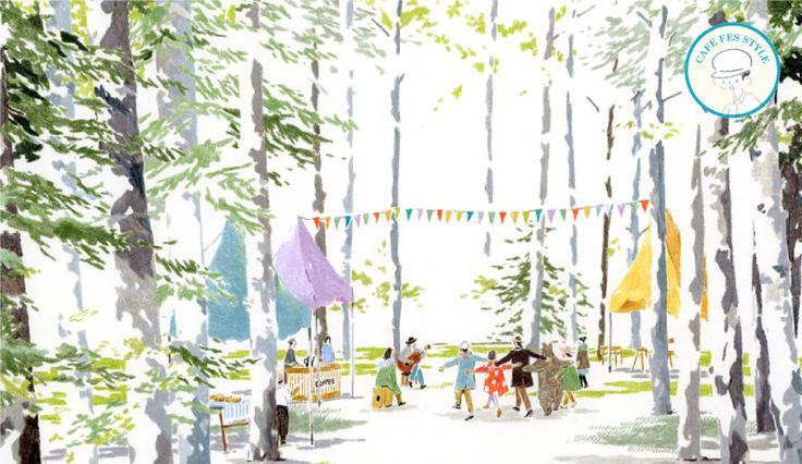 森のカフェフェス in ニセコ   第2回カフェ&ミュージックフェスティバル 2012.6.30.SAT