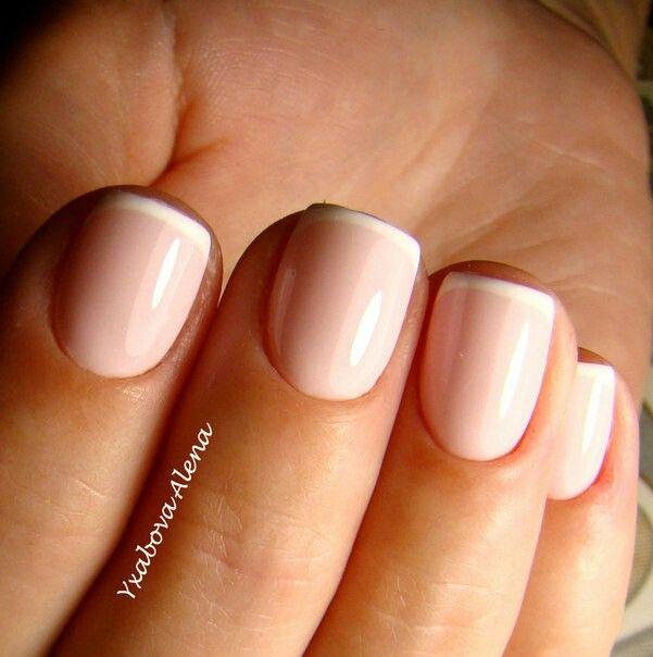 Мвникюр. Френч. Натуральные ногти. Гель-лак. Beautiful Nails. Nailart. Manicure. French