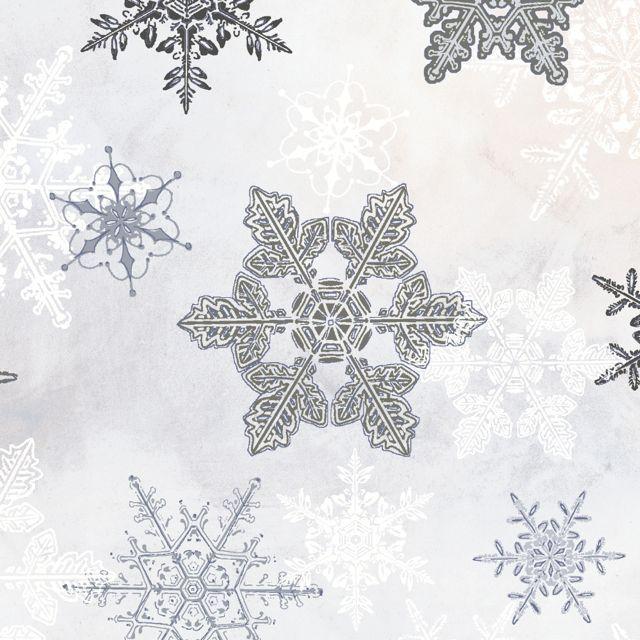 Winter Celebration Large Snowflake Grey