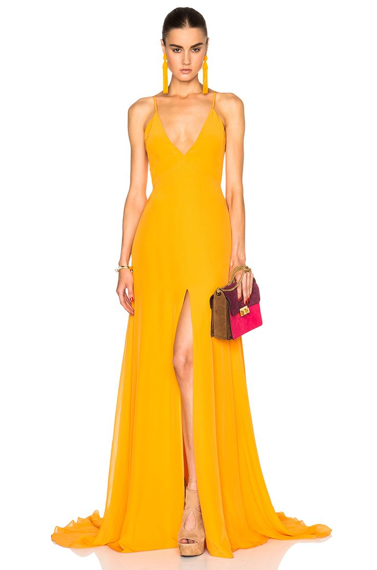 Image 1 of Prabal Gurung Charmeuse Gown in Saffron