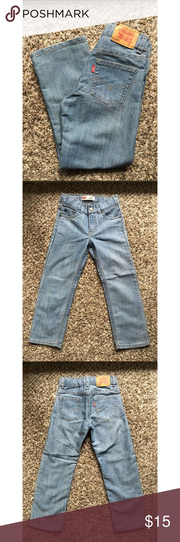 Boys' Levi's Jeans SALE Light blue, 7 slim fit, NWOT, adjustable waist. NO TRADES, FIRM PRICE. Levi's Bottoms Jeans