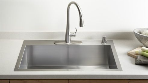 Kohler Vault™ sinks - top mount or undermount option, very slim edge profile in top mount (click picture to see all the options in the Vault line)