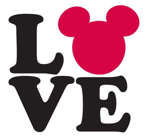 Mickey Mouse Love (make this a sign for our February classroom door)